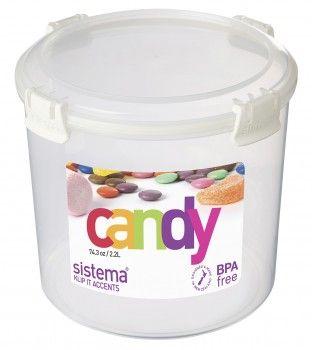 Image of   Candy box fra Sistema til sukker m.m. (2,2 liter) - Pink Accents