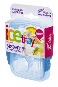 Image of Frostboks til babymad - Sistema Ice Tray - Lille - Turkis (61440_turkis)
