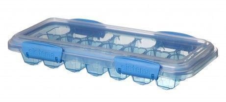 Frostboks til babymad - Sistema Ice Tray - Stor - Turkis
