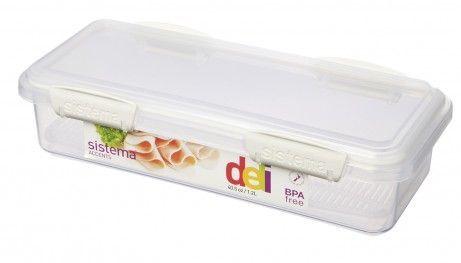 Image of   Deli box fra Sistema til kød og pålæg (1,2 l.) - Hvid Accents