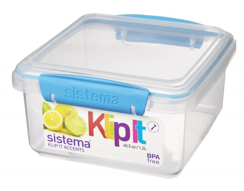 Image of   Madboks - Lunch Plus fra Sistema - 1.2 liter - Aqua accents