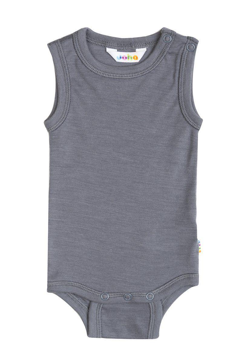 Image of   Body uden ærmer fra Joha i uld/silke - Rabbit grey
