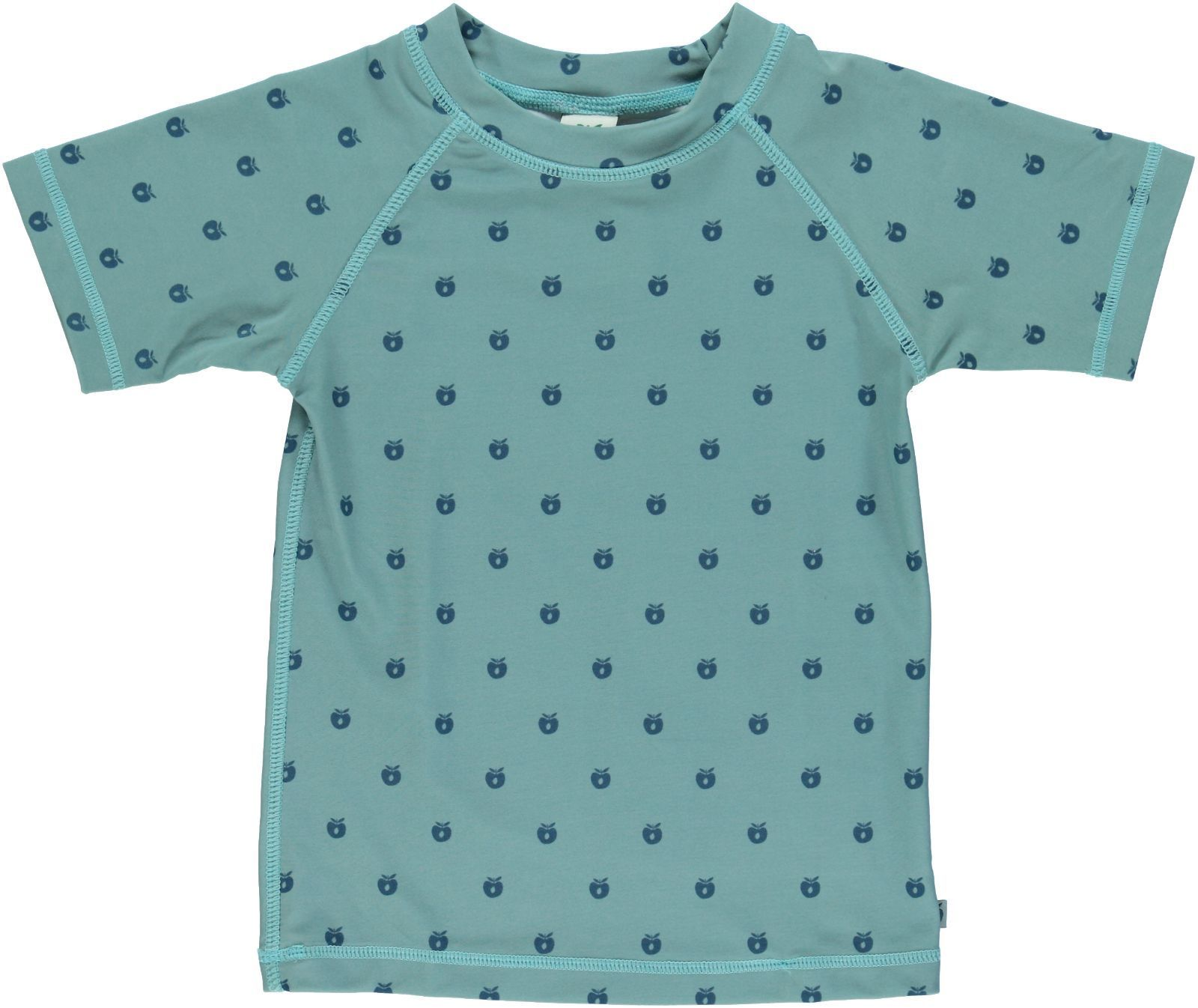 Image of UV T-shirt m/micro æbler fra Småfolk - Stone Blue (64-9950-stone)