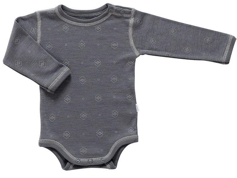 Joha Body fra joha - uld-silke - l/æ - grå med tern fra babygear.dk
