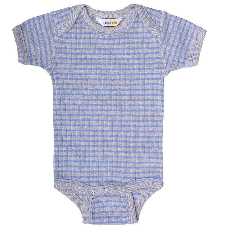 Image of Body fra Joha - korte ærmer - Grå og blå striber (64170-540-6485)