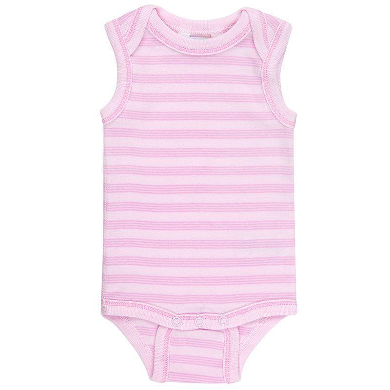 Image of   Body uden ærmer fra Joha - Øko-Tex - Mini Stripe Pink