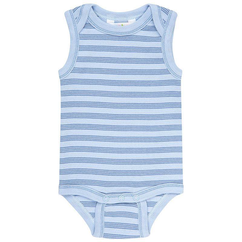 Image of Body uden ærmer fra Joha - Øko-Tex - Mini Stripe Blue (65062-134-6613)