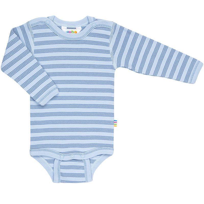 Langærmet body fra Joha - Øko-Tex - Mini Stripe Blue