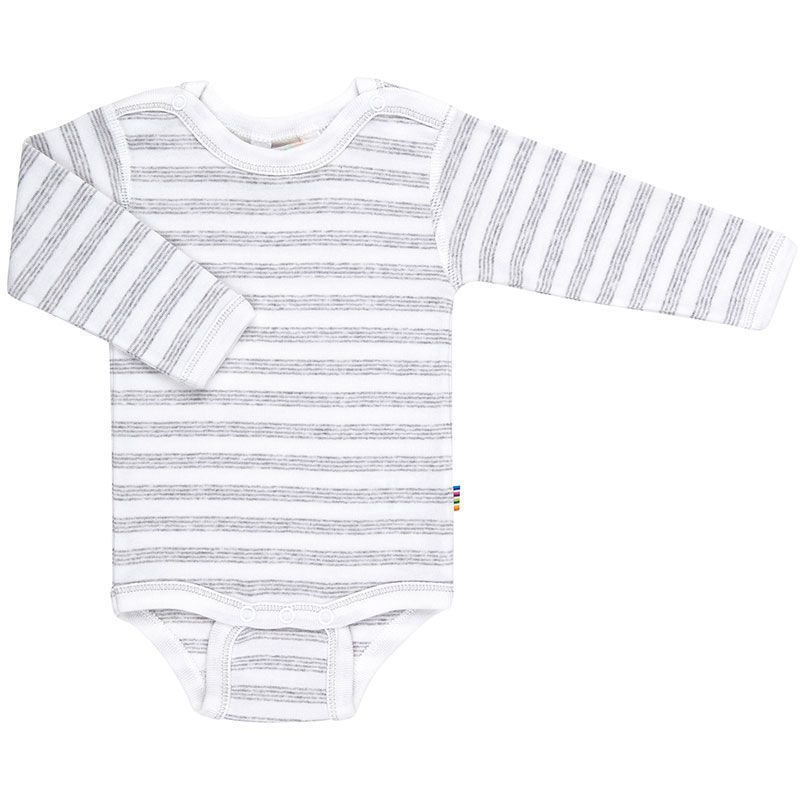 Langærmet body fra Joha - Øko-Tex - Mini Stripe Grey