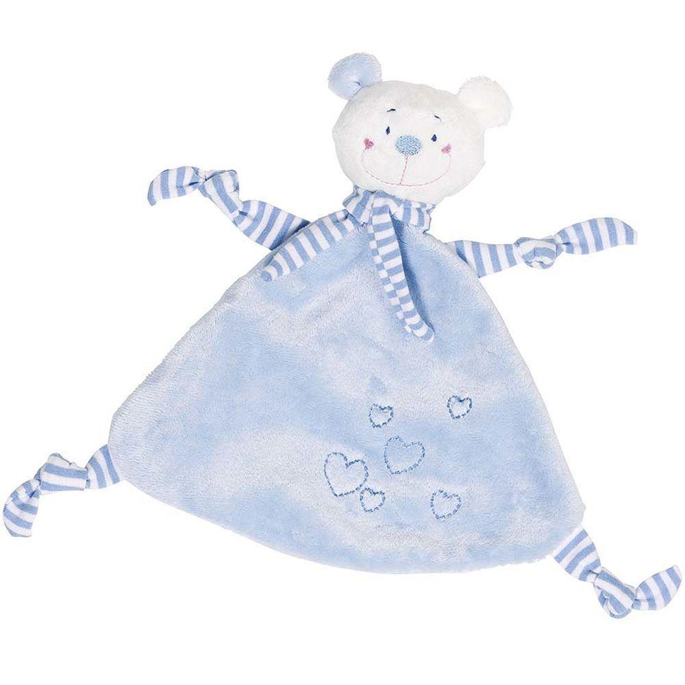 Sutteklud fra Goki - Bamse m. hjerter - Blå