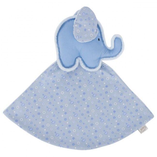 Nusseklud fra Goki Le Petit - Lyseblå Elefant
