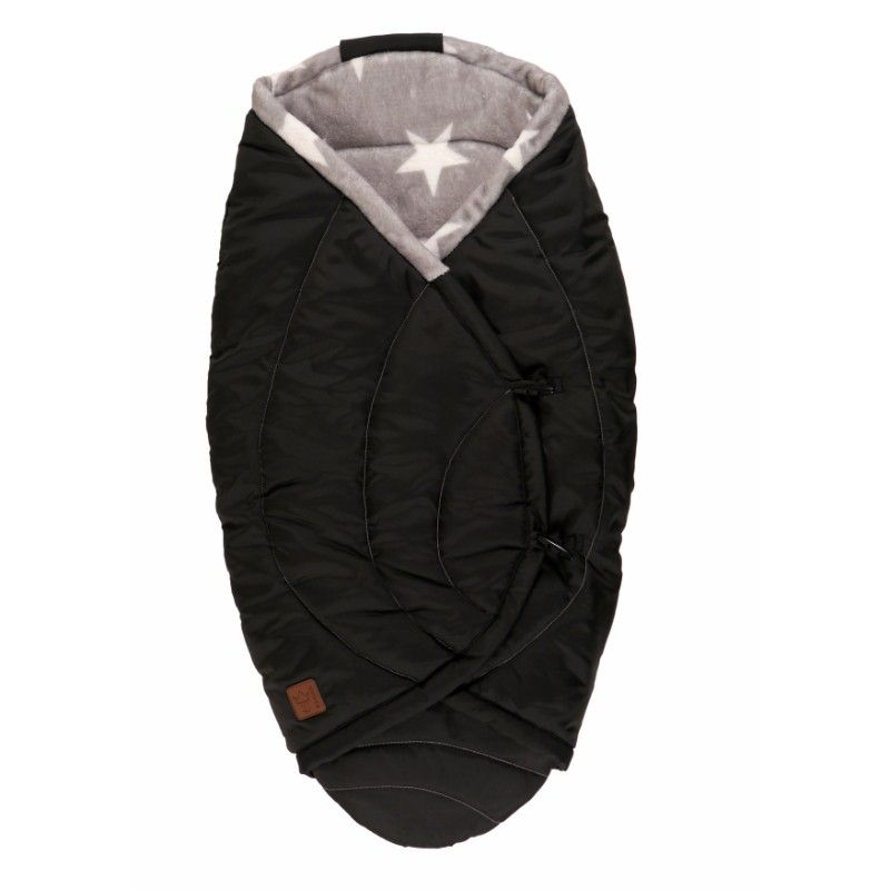 Image of Baby fleece wrap fra Kaiser - Coo Coon Star - Black (65356425)