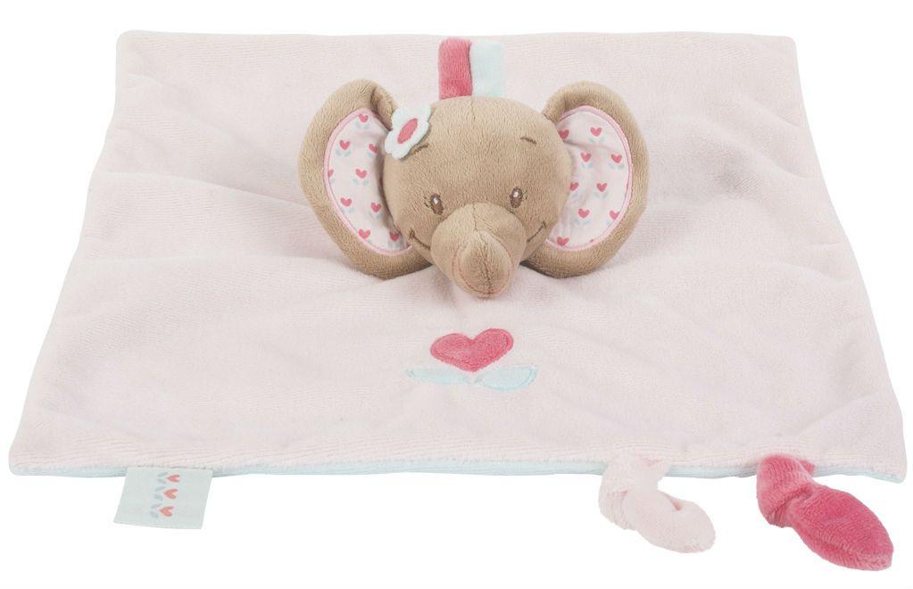 Nattou – Nusseklud / fingerdukke fra nattou - rose elephant fra babygear.dk