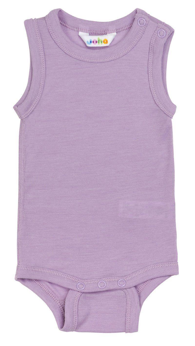 Image of Body uden ærmer fra Joha i uld/silke - Lavender mist (66021-195-15582)