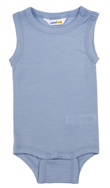 Image of   Body uden ærmer fra Joha i uld/silke - DustyBlue