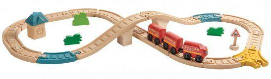 Image of   8-tals togbane fra Plantoys (29 dele)