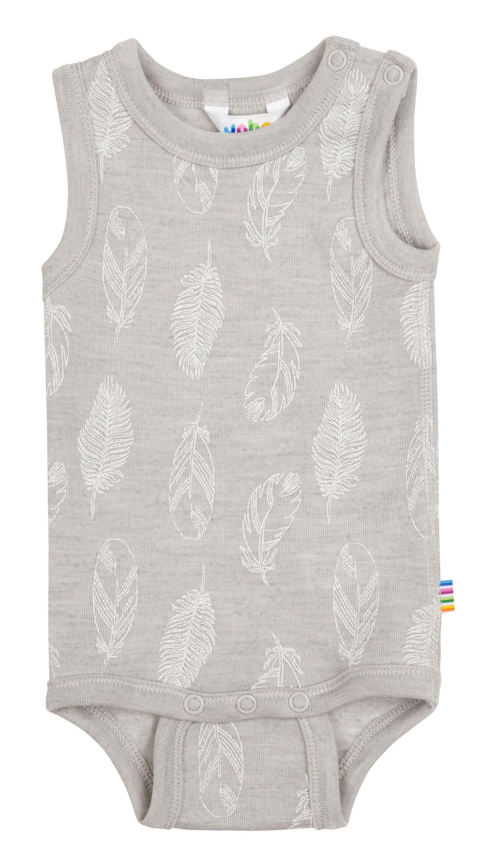 Image of Body uden ærmer fra Joha i uld-silke m. Grey Feathers (66122-195-3079)