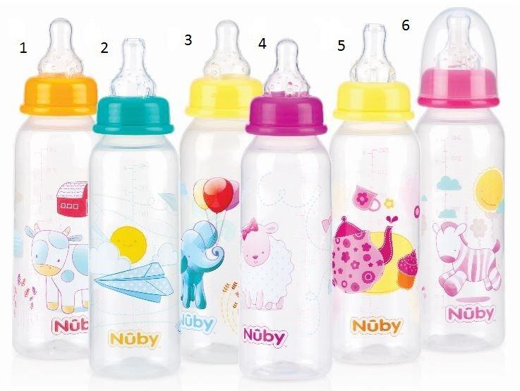 Sutteflaske fra nuby - 1-2-3 flow (0m+) - drenge (1 stk) fra Nuby på babygear.dk