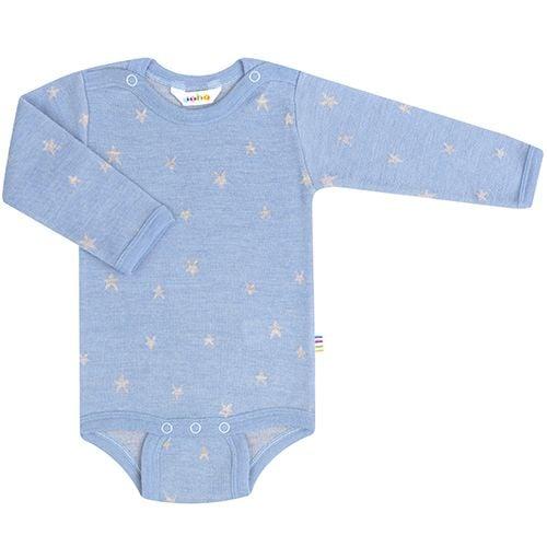 Body fra Joha - Uld - L/Æ - Stars - Dusty Blue