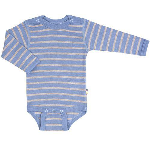 Body fra Joha - Uld - L/Æ - Sandy Stripe - Cloud Blue