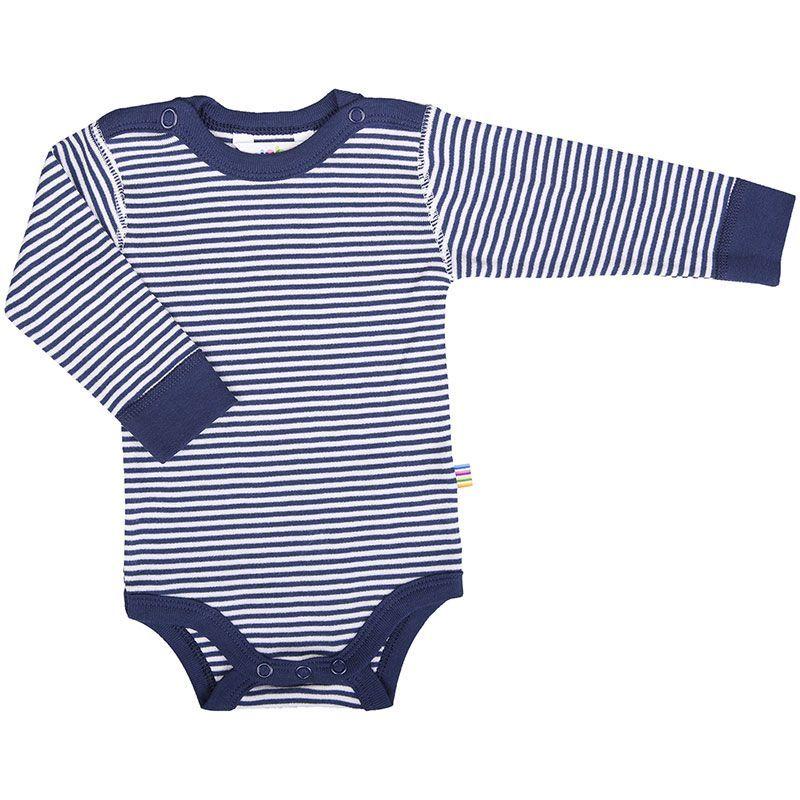 Image of   Body fra Joha - Lange ærmer - Navy / White Stripe