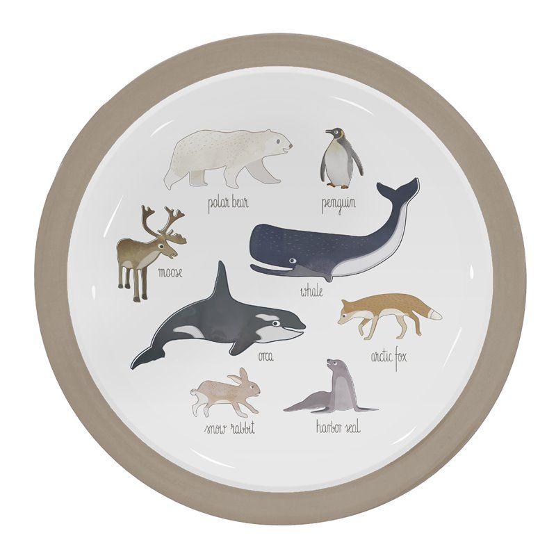 Image of   Tallerken fra Sebra - Melamin Arctic animals