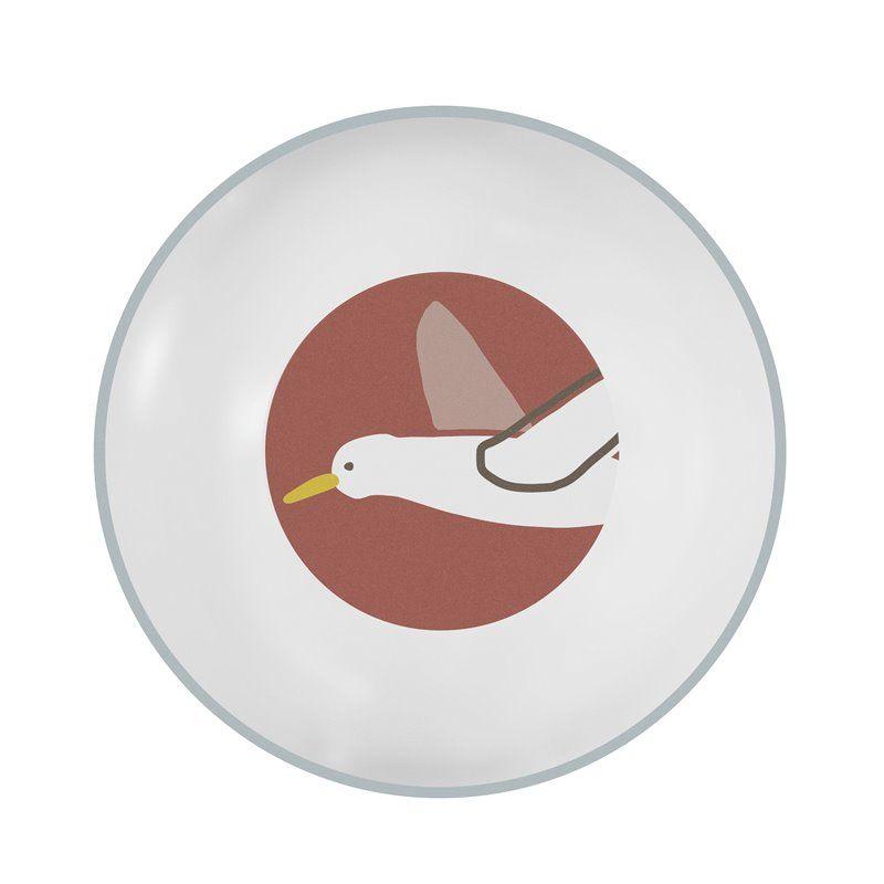 Melamintallerken Fra Sebra -  dyb -  Singing Birds