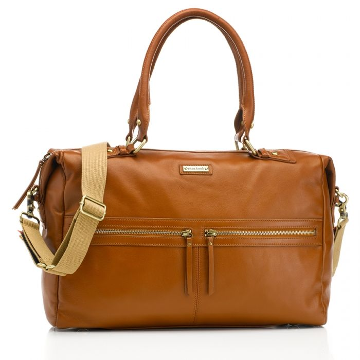 Image of   Pusletaske fra Storksak - Caroline Leather - Tan
