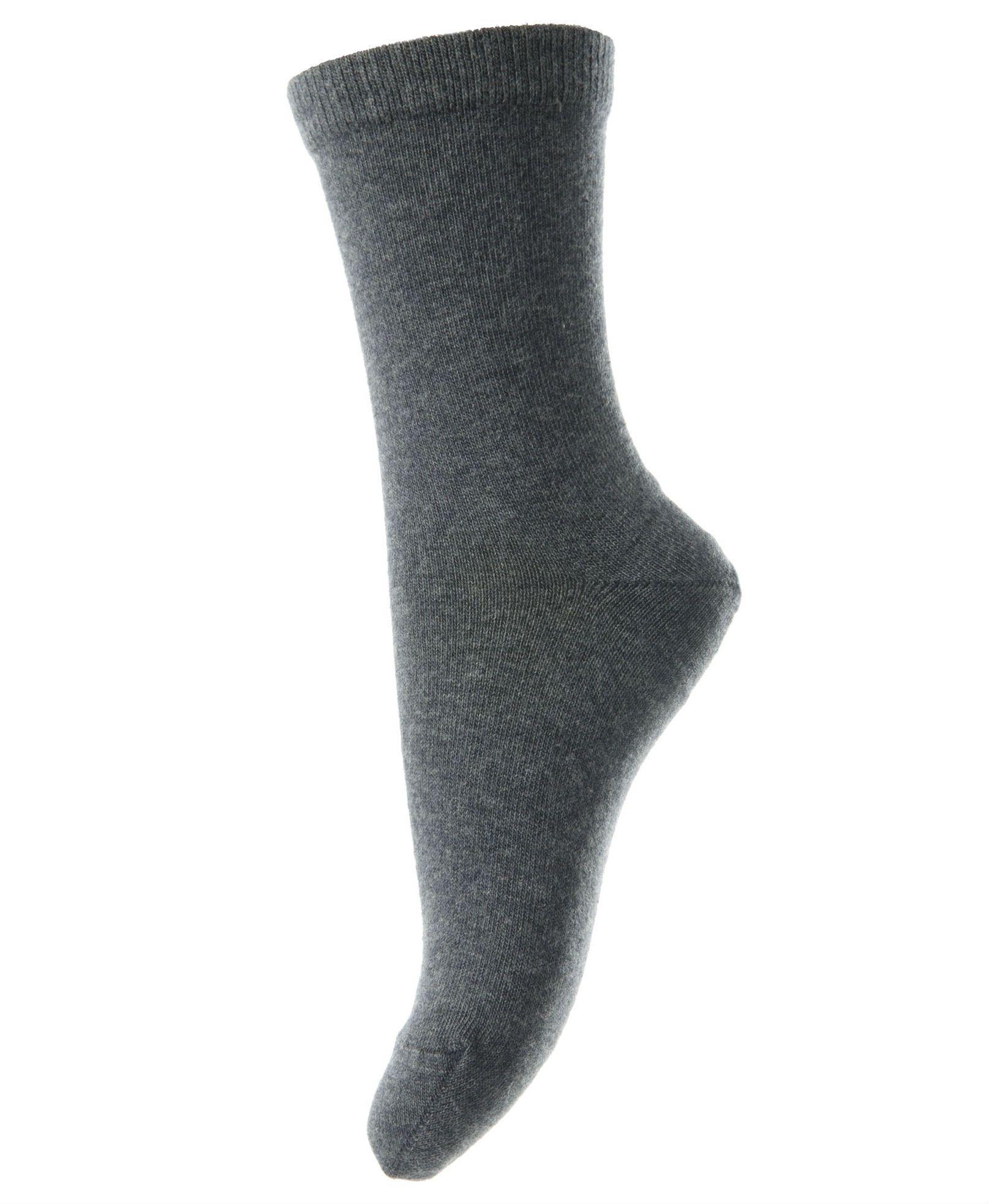 Billede af Strømper i bomuld fra MP - Mørk gråmeleret