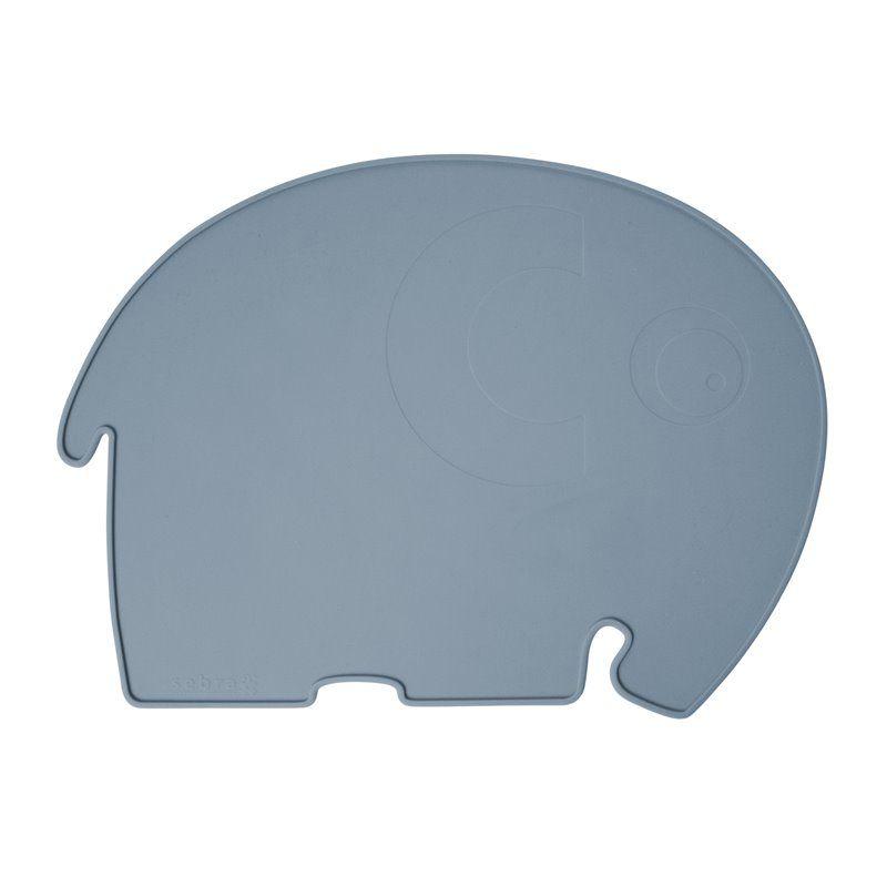 Billede af Dækkeserviet fra Sebra - Silikone elefant royal blue