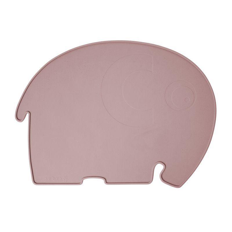 Image of Dækkeserviet fra Sebra - Silikone elefant midnight plum (7010201)