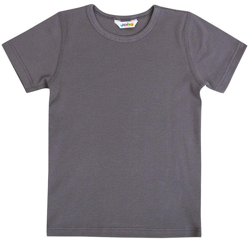Image of T-shirt fra Joha - Basic - Koksgrå (70308-173-15372-)