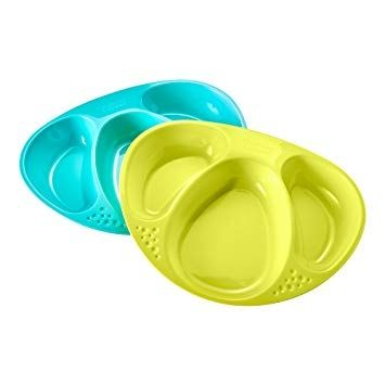 Image of   Tallerkensæt fra Tommee Tippee - Section Plates - Turkis-Lime