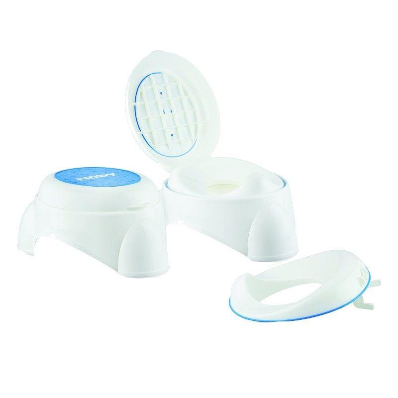 Billede af Toilettræner fra Nuby 3-i-1: Potte, toilet, skammel