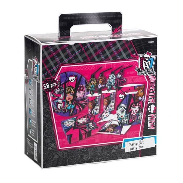 Image of Fødselsdag Party Kit - 6 personer - Monster High (56 dele) (997791)