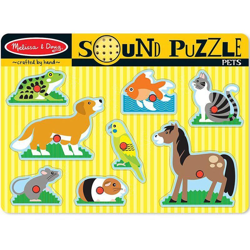 Image of Sound Puzzle fra Melissa & Doug - Kæledyr (10730)