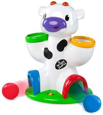 Image of   Legetøjs ko med bolde og lyd fra Bright Starts