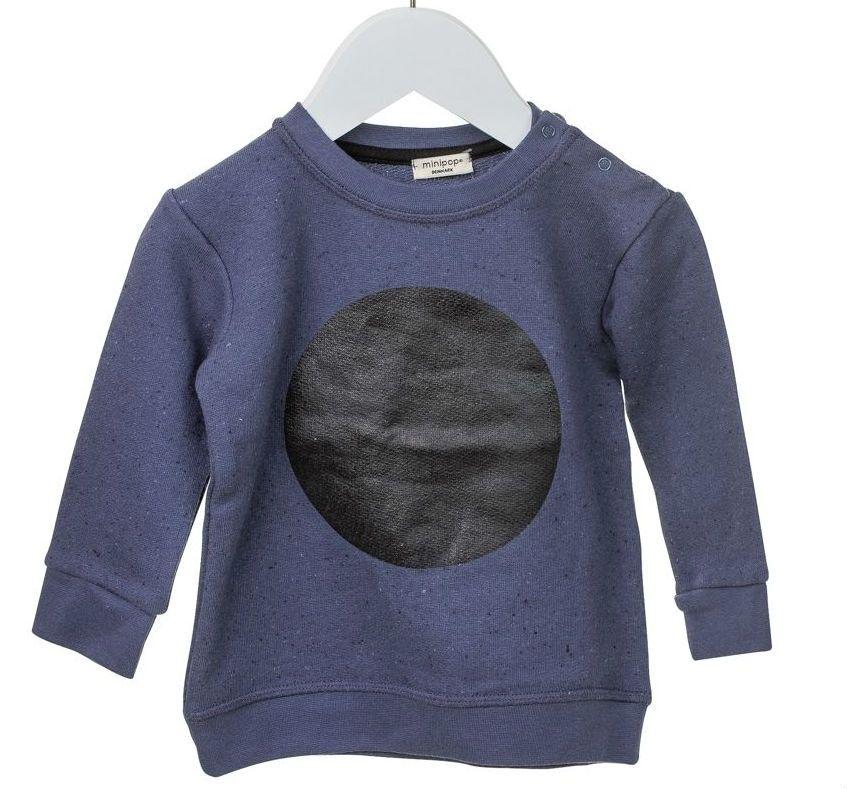 Image of Sweatshirt fra MiniPop - Mega Dot - Navy Black Melange (754-Navy-Black-Melange)