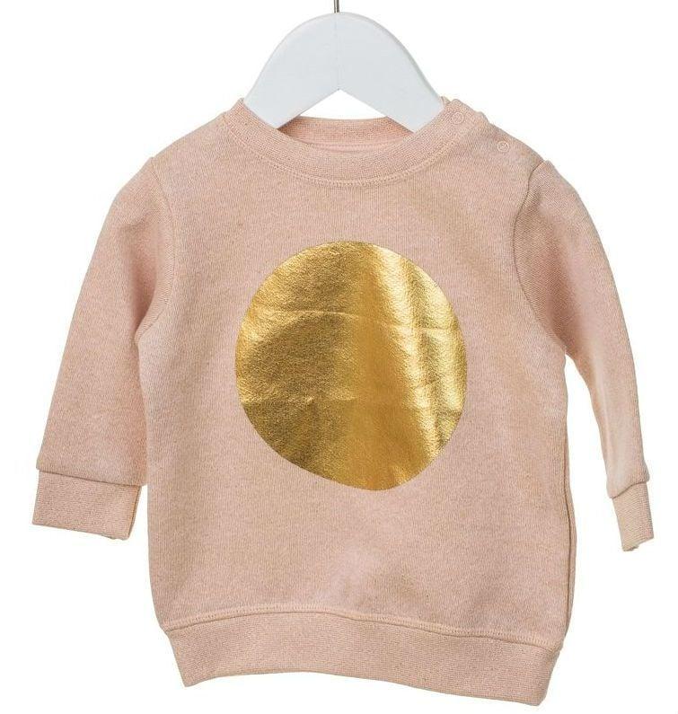 Image of   Sweatshirt fra MiniPop - Rose Lurex Mega Dot