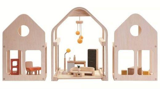 Dukkehus fra PlanToys - To go - Møbleret