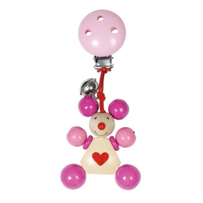 Image of   Clips ophæng m. klokke fra Heimess - Pink Mus