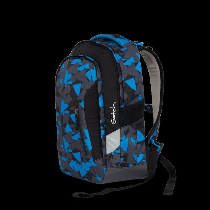Satch – Skoletaske rygsæk - satch sleek - blue triangle (24l) på babygear.dk