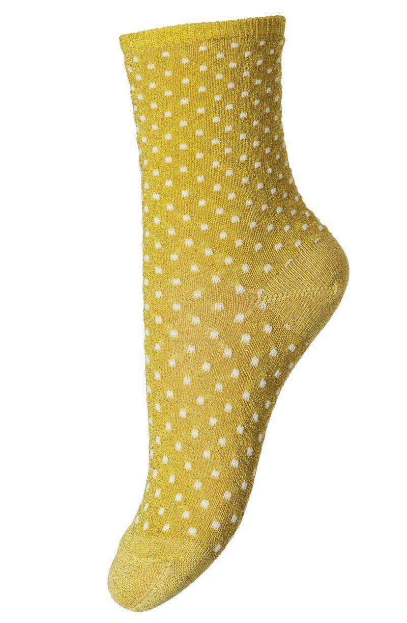 Image of Strømper fra MP - Glimmer m. prikker - Gold (77089-749)