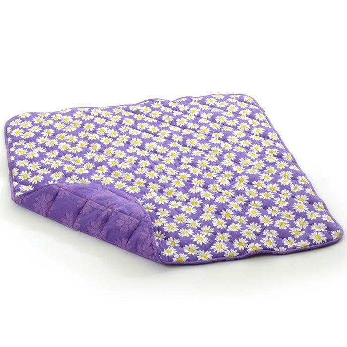 Smallstuff Legetæppe fra smallstuff - 1x1m. - purple daisy fra babygear.dk