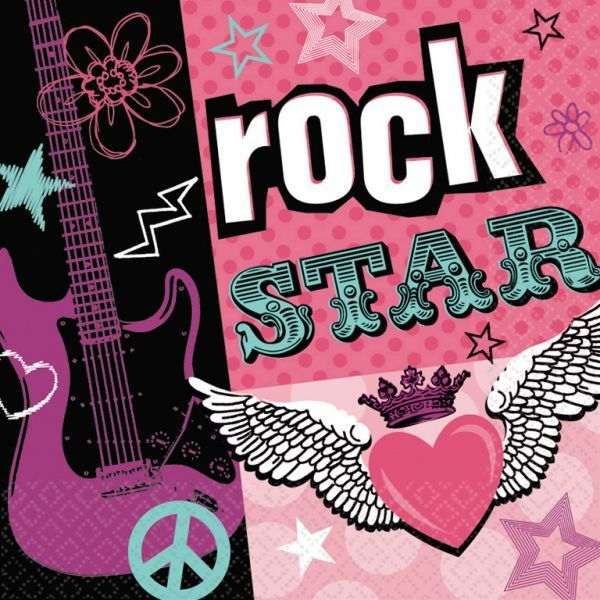 Image of Servietter - Rock Star (16 stk) (519509)