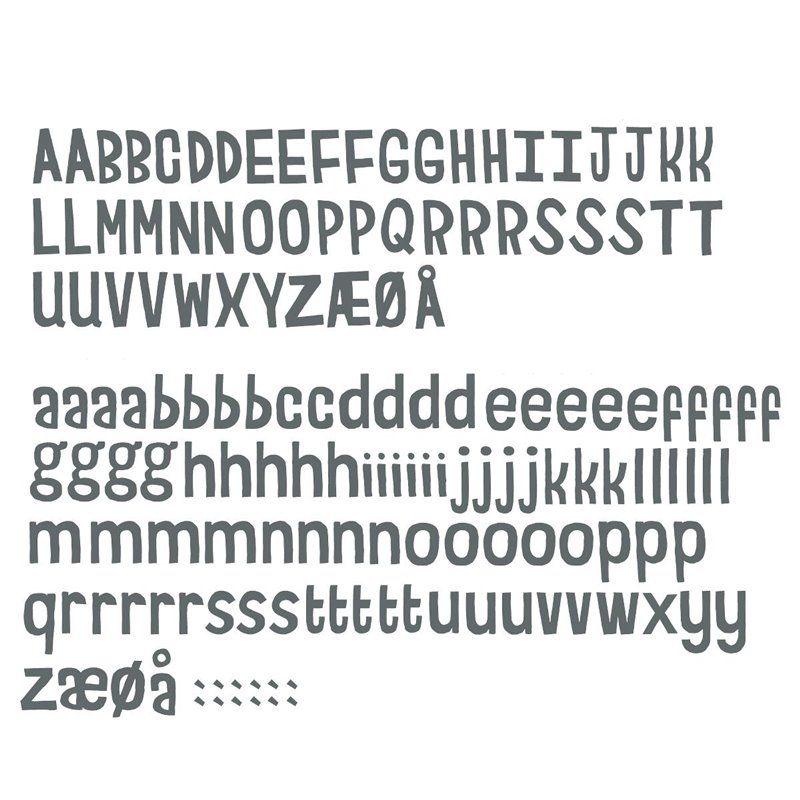 Image of   Wallsticker fra Sebra - bogstaver grå