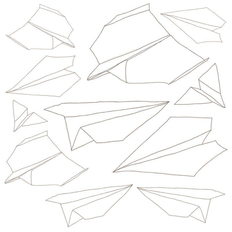 Image of   Wallsticker fra Sebra - papirsflyvere