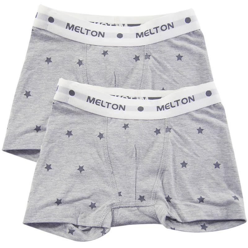 Image of Boxershorts fra Melton - Graphite grey/Navy Stars (2 stk) (800282-155)