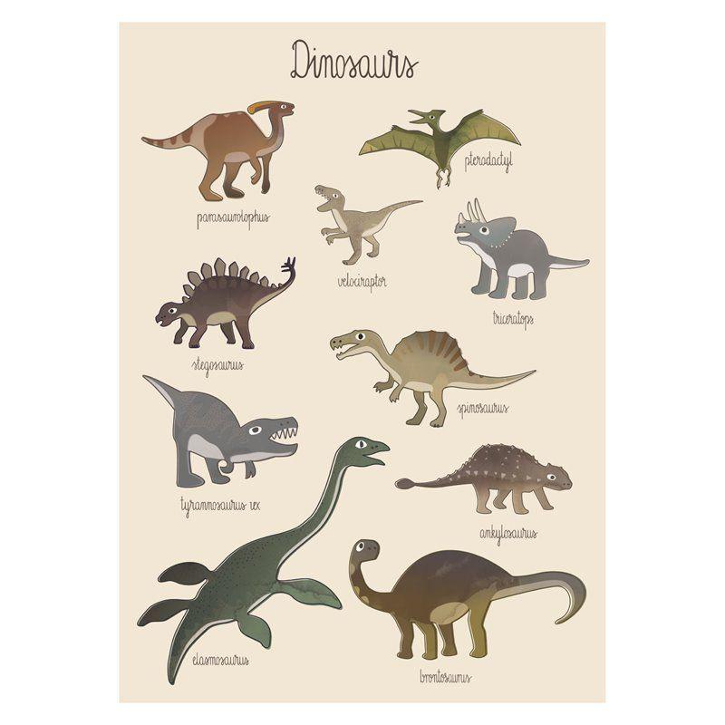 Image of Plakat fra Sebra - Dino (8003101)
