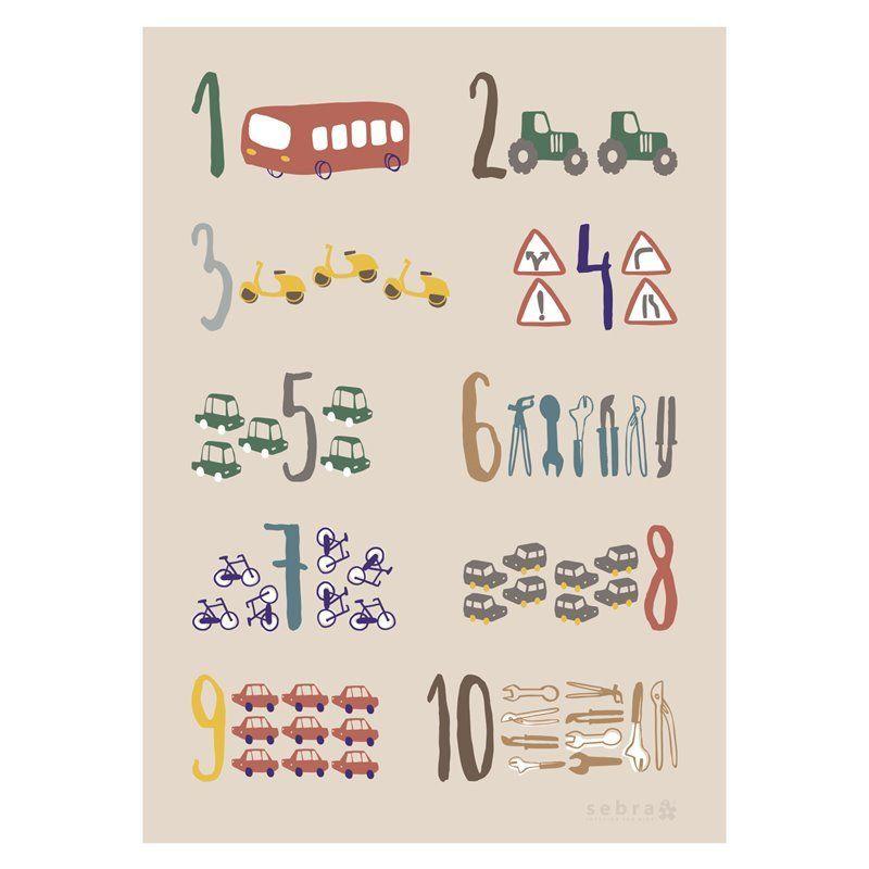 Image of Plakat Fra Sebra - Little Driver (8003102)